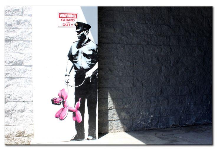 Väggdekorationer inspirerade av Banksy - till de som verkligen älskar gatukonst! #canvastavlor #tavlor #väggdekor #Banksy #streetart #apor
