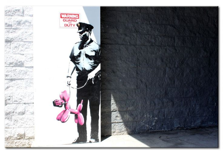 Décoration inspirée de l'art de Banksy - choix parfait pour tous les amateurs du street art #tableau #tableaux #banksy #streetart #décoration #homedecor #bimago #arturbain