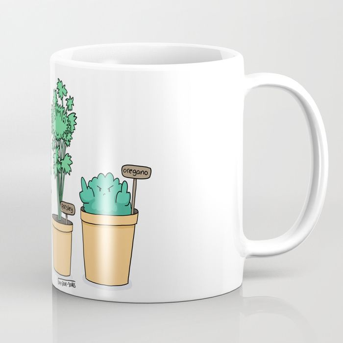 Rude Oregano. For the struggling gardener.    Buy Oregano Coffee Mug by lucygrovejones. Worldwide shipping available at Society6.com. Just one of millions of high quality products available.