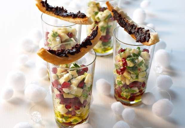 Le tartare de chèvre aux pommesPour une entrée légère et végétarienne, optez pour cette verrine. Voir la recette du tartare de chèvre aux pommes