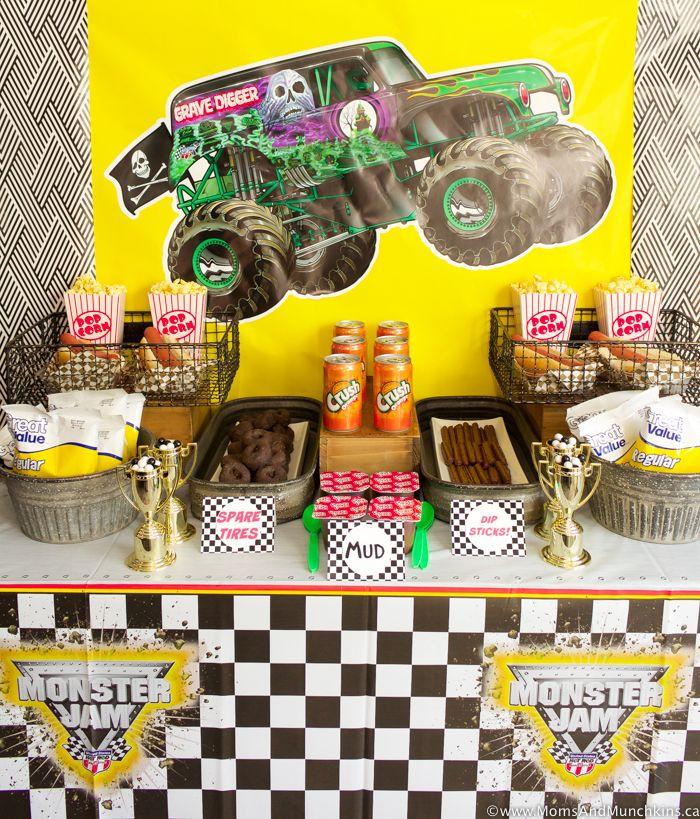 Monster Truck Birthday Party Ideas Moms Munchkins Monster Trucks Birthday Party Monster Truck Birthday Party Ideas Food Monster Jam Birthday Party