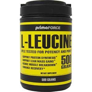 Leucine - Primaforce - 500gr  PrimaForce L-leucine bevat hoogwaardige L-leucine 100% zuiver. Leucine zou een standaard moeten zijn in je supplementen arsenaal omdat het de spiereiwitopbouw verhoogt. Door toevoeging van extra leucine aan een maaltijd of eiwitshake wordt gezorgd voor een snellere spieropbouwende werking.  EUR 22.50  Meer informatie