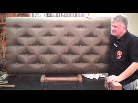 Cabeceira de cama com capitone - YouTube Cabecera de cama. DIY