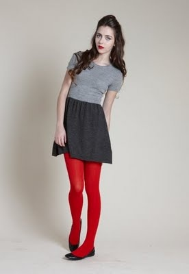 red on tights.. Very risky in wearing it wrong. But in the right outfit, it would be SO cute!