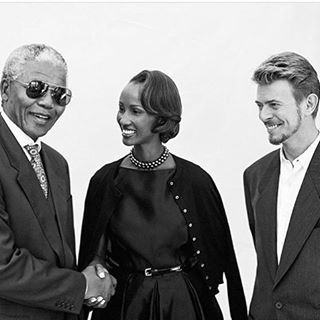Nelson Mandela, Iman and David Bowie