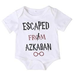 Harry Potter Print Short Sleeve Cotton Bodysuit Jumpsuit Outfits