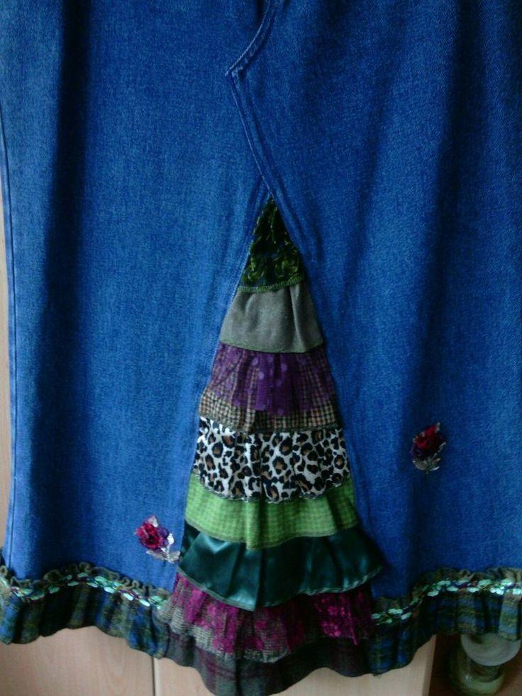 Ladies Denim Skirt unique design size 16