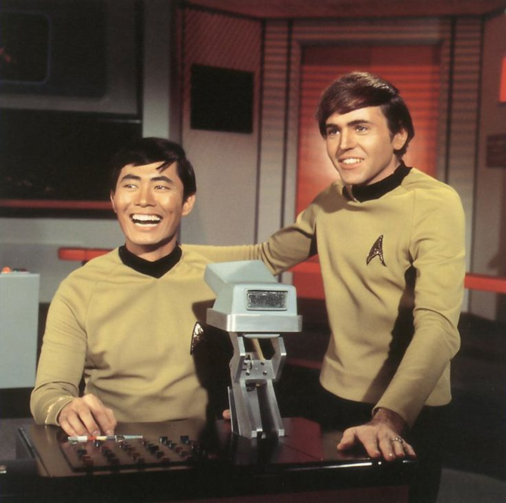 Sulu and Chekov Smiling