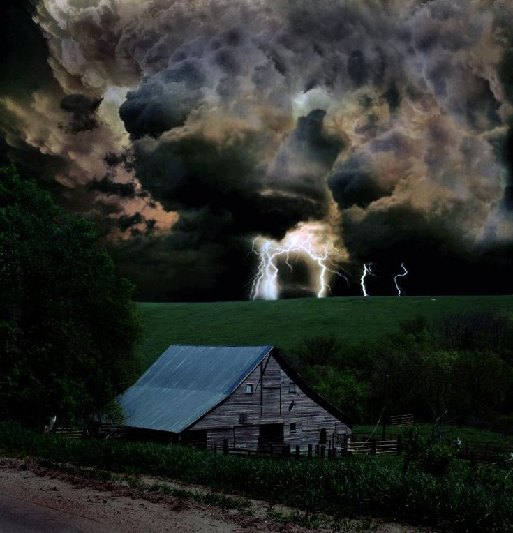 Powerful reminder of summer storms on the farm.