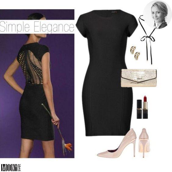 Čierne šaty so zmyselne riešeným chrbátom – MODNYSVET