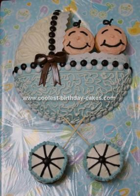 Homemade Baby Shower Carriage Cake