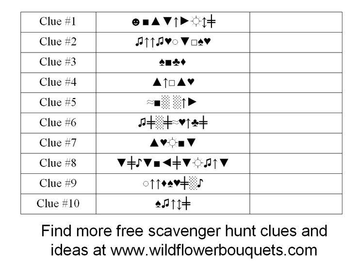 Katrena's Scavenger Hunt #4 With Alphabet Code Clues   Wildflower Bouquets – Enjoy Simple Pleasures