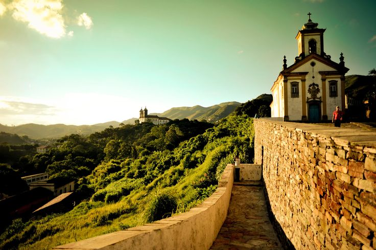 Antiga Vila Rica, a cidade de Ouro Preto em Minas Gerais - Brasil. Marcou o ciclo do ouro no Império Colonial.