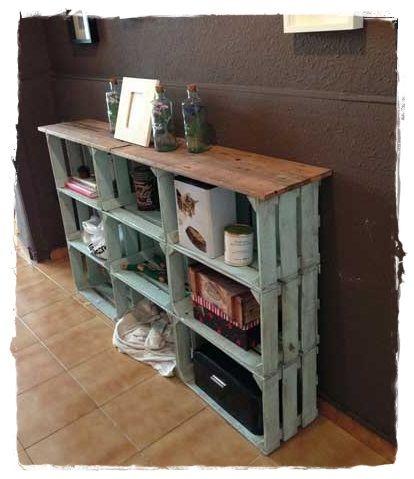 cajas de madera recibidor consola reciclada comprar cajas decoracion