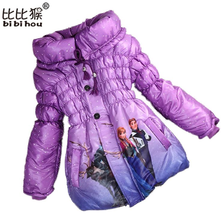 Bibihou 2017 Girls Kids Snow Queen Princess Children Elsa Winter Down Coat Jacket Kids Clothes Snowsuit Fur Parka Doudoune Fille #>=#>=#>=#>=#> Click on the pin to check out discount price, color, size, shipping, etc. Save and like it!