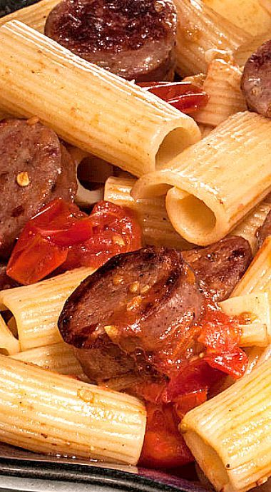 Pasta With Caramelized Tomatoes & Sausage