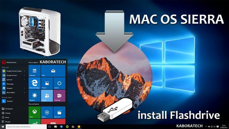Create Mac OS Sierra Flashdrive from Windows 10