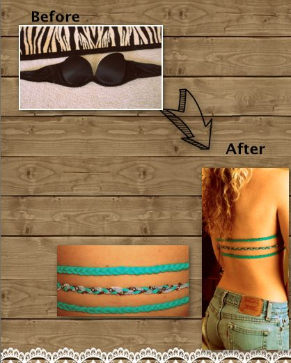 Bra to wear under backless shirts.
