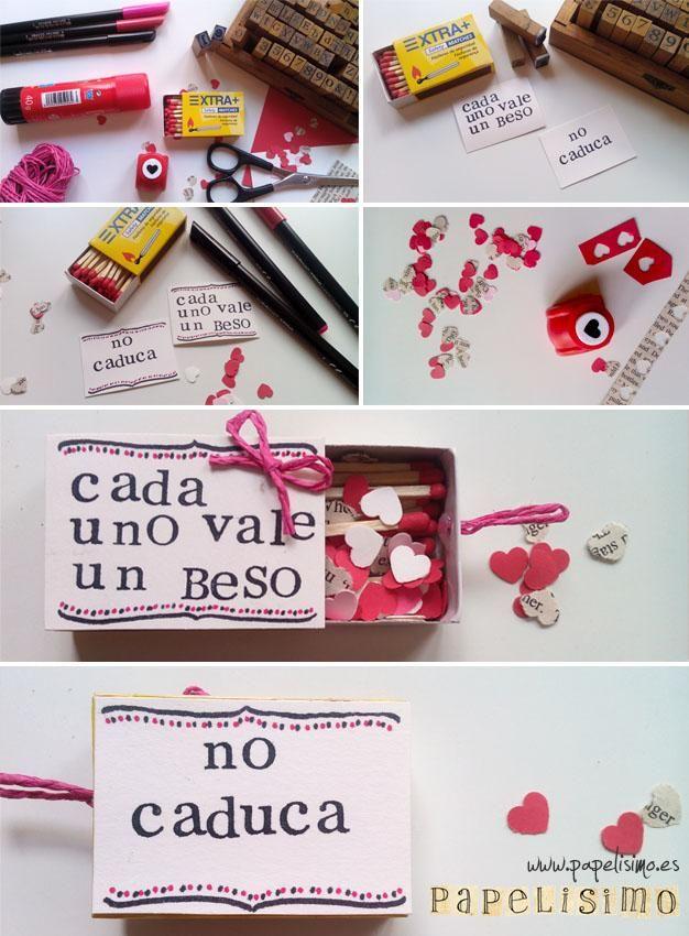 Caja de cerillas con corazones   Aprender manualidades es facilisimo.com
