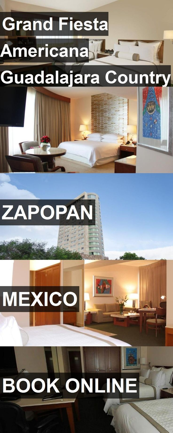 Hotel Grand Fiesta Americana Guadalajara Country Club in Zapopan, Mexico. For more information, photos, reviews and best prices please follow the link. #Mexico #Zapopan #travel #vacation #hotel