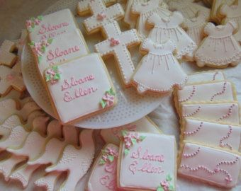 baptism christening cookies ni os pinterest. Black Bedroom Furniture Sets. Home Design Ideas