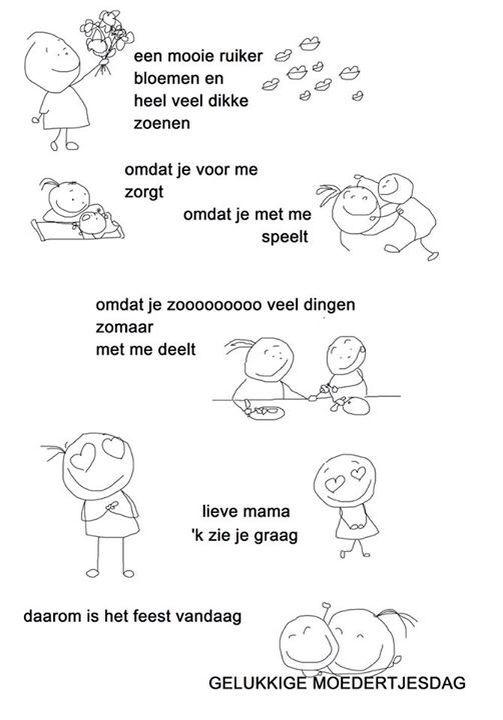 Gedichtje moederdag