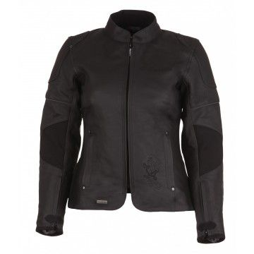 Kurtka MODEKA BLACK STAR LADY czarna damska | MODEKA BLACK STAR LADY Leather Jacket #Motomoda24