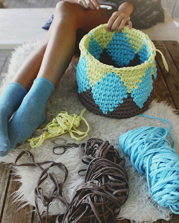 348 best images about trapillo ganchillo ganchillo xxl y - Puntos crochet trapillo ...
