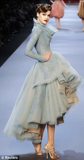 DIOR Haute Couture. I am almost completely obsessed with this dress. I love absolutely everything about it.: