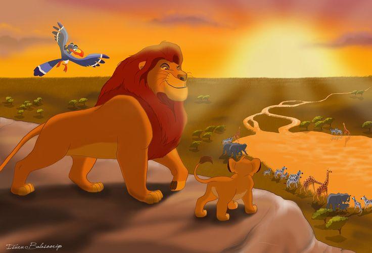 Картинки король лев муфаса и симба утром