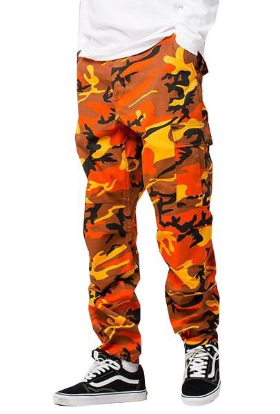 48b4c838620c1 100% Cotton Camo Pants / Side Pockets / Drawstring Ankles Fits True to Size