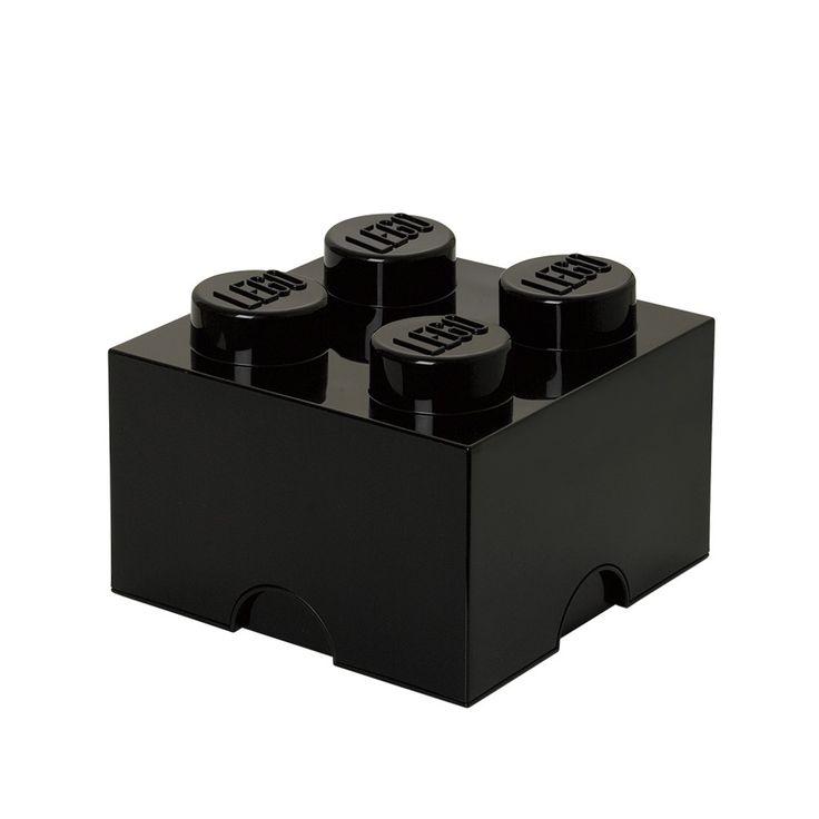 Lego opbevaringskasse sort - 4 mellem fra Room