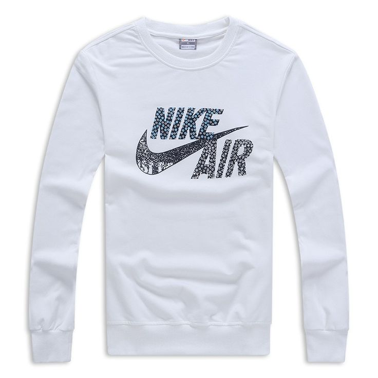 Nike Sweat-shirt Coton Blanc,survetement nike homme,nike vetement femme