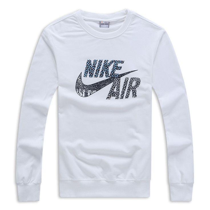 Nike Sweat-shirt Coton Blanc,survetement nike homme,nike vetement femme