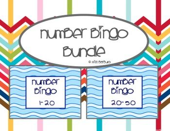 Number Bingo 1-20 & 20-50 (BUNDLE)