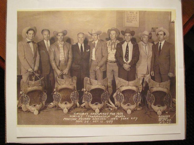 1959 Nfr Champions L R Casey Tibbs Bill Rinestine Jim