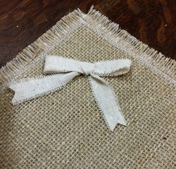 Manteles de arpillera mesa rústica por LittleZebrasBoutique en Etsy