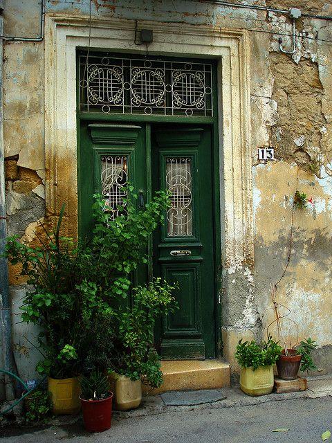 ...: Green Entry, Green Doors, Entry Doors, Doors Window, Front Doors, Green Plants, Old Doors, Shades Of Green, Cyprus