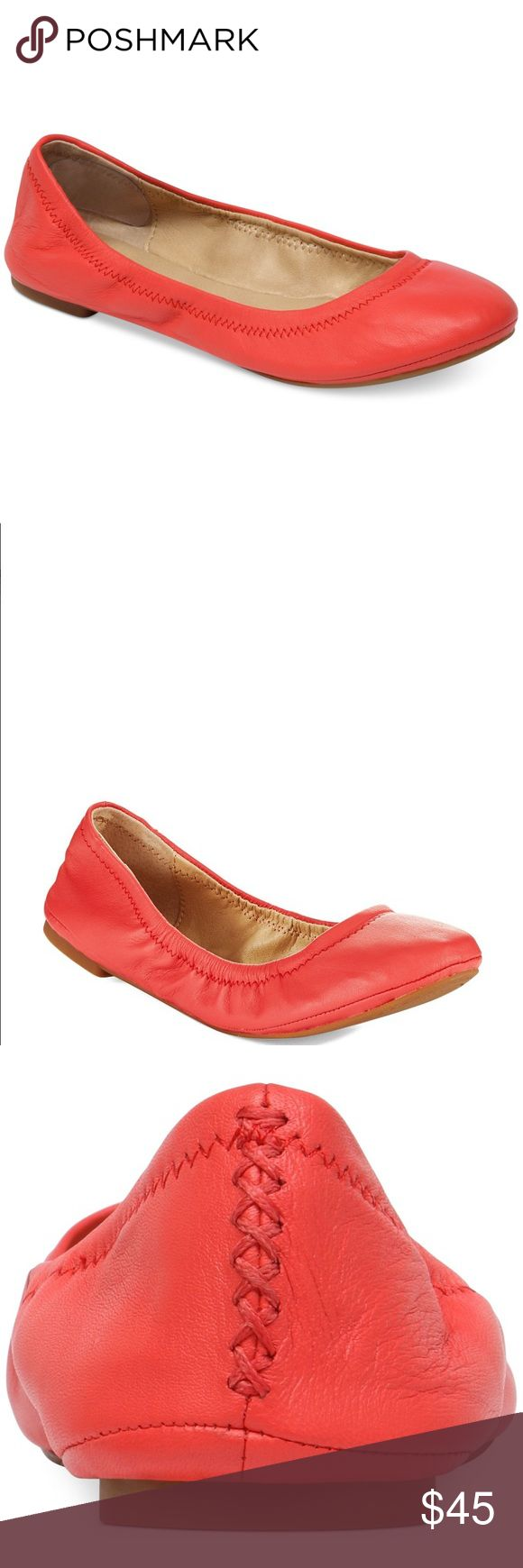 Lucky Brand orange flats Lucky Brand orange ballet flats in women's size 8. They have barely been worn and are in spotless condition! Lucky Brand Shoes Flats & Loafers