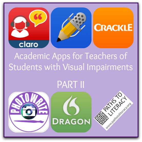 These academic apps (applications) for iOS devices may be useful to students with visual impairments, as many of them address the Expanded Core Curriculum (ECC).
