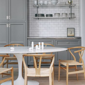 Gray Cabinets, Contemporary, kitchen, Lonny Magazine