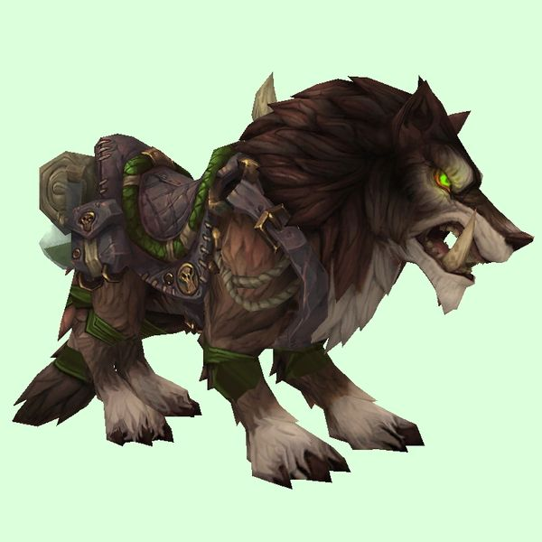 Saddled Brown Draenor Wolf Pets Lion Sculpture Wolf