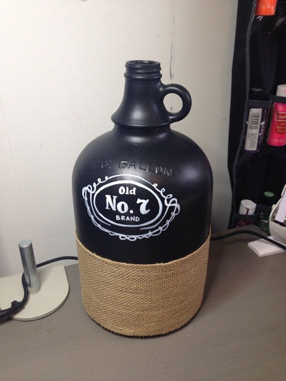 Hand Painted Whiskey Glass Jug. Jack Daniels Custom Painted. Sweetsurrenderart757 Etsy.