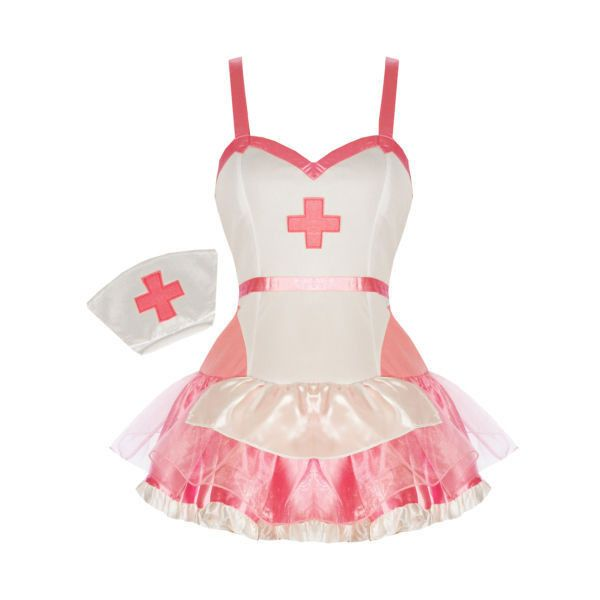 Sexy Pink Nurse Medical Doctor Fancy Dress Outfit ❤ liked on Polyvore featuring costumes, dresses, accessories, costume, stripper, pink nurse costume, nurse halloween costume, sexy nurse halloween costume, fancy halloween costumes and pink costume