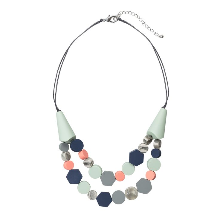 Buy the Chiko Two Row Textured Bead Necklace at Oliver Bonas. Enjoy free worldwide standard delivery for orders over £50.