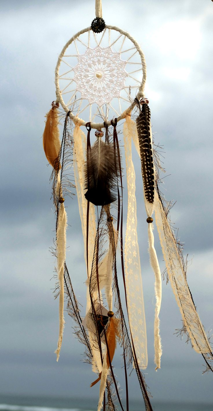 Natural Vintage Dreamcatcher, Boho, Creams and Browns, by Heavenly Earth Art