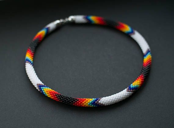 Native American Inspired Necklace Rainbow Colors Necklace