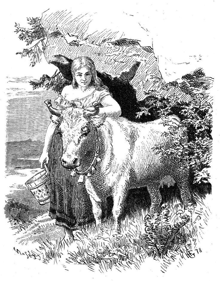 Hans Gude - Norske folke- og huldre-eventyr - En Aftenstund i et Proprietærkjøkken 4. (1878). jpg  (868×1110)