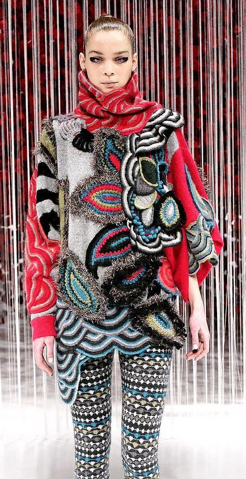 crochet dress by Kenzo Takada