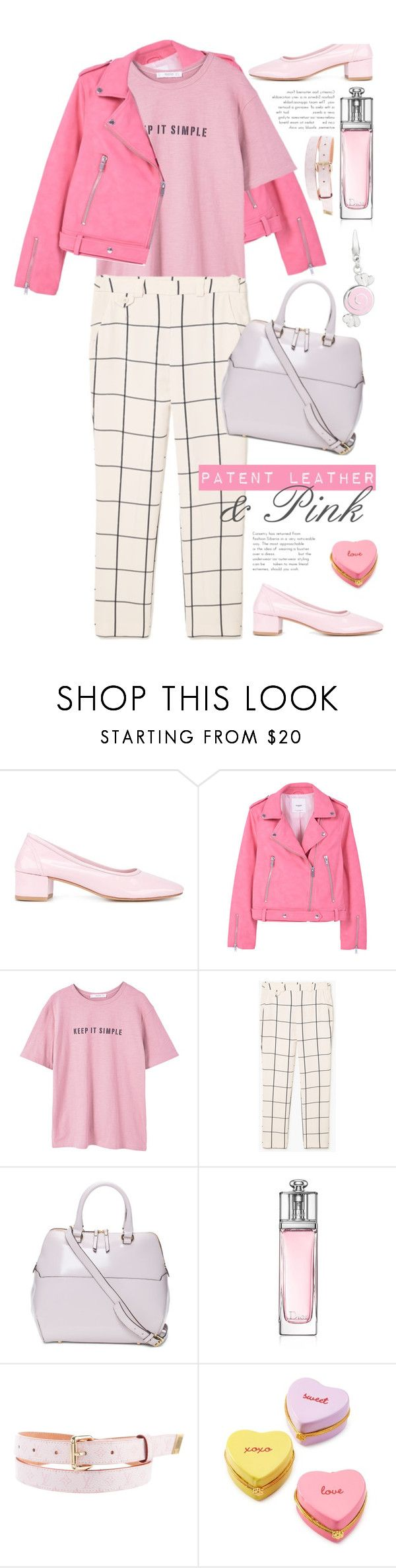 """Candy Shop"" by vazsu ❤ liked on Polyvore featuring Maryam Nassir Zadeh, MANGO, Christian Dior, Louis Vuitton, Two's Company and patentleather"